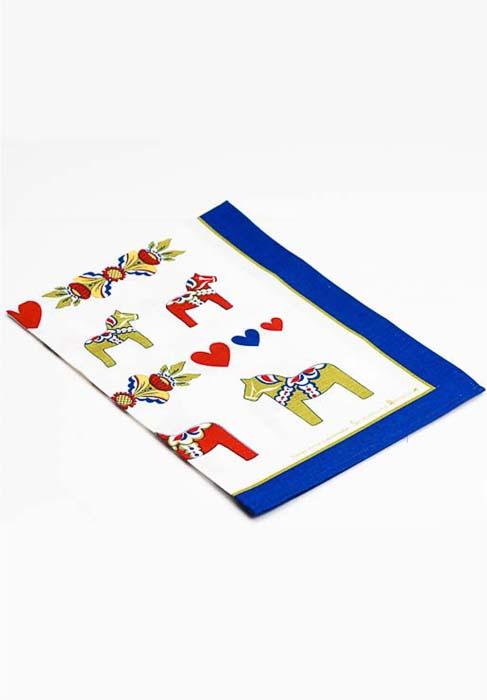 Tea towel dala horses