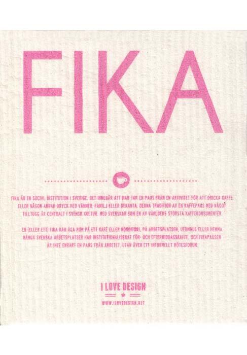 Vaatdoek fika roze zweden