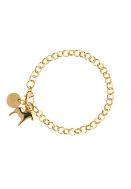 armband dala paard goud