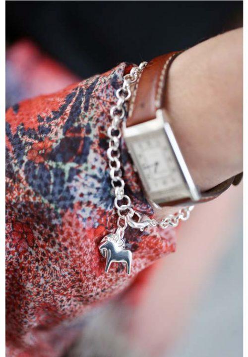 paarden armband zilver