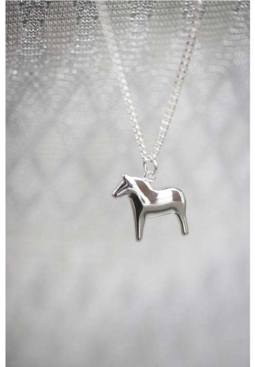zilveren ketting met paard