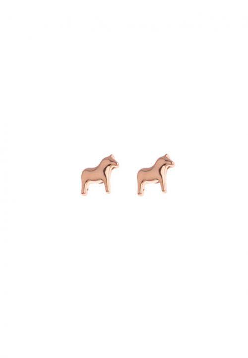 roze oorbellen dala paard
