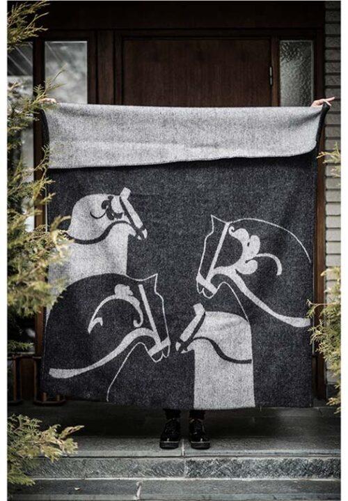 wollen deken dala paard