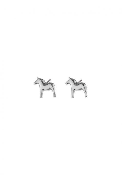 zilveren oorbellen dala paard